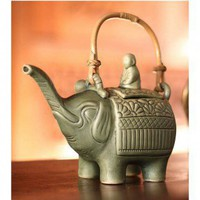 Novica 'Buddha and the Jade Elephant' Teapot - 145100 - Decorative Accents - Decor
