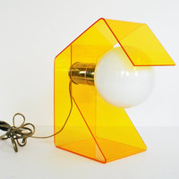 Mod Yellow Lucite Acrylic 1960s