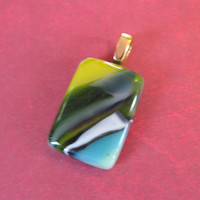 Colorful Pendant, Omega Slide, Etsy Fashion Jewelry, Colorful Jewelry - Bree - 4296 -1