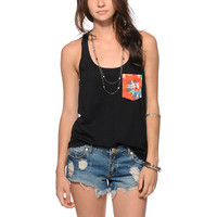 Sirens & Dolls Tie Dye Swirl Pocket Tank Top