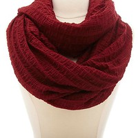 Lightweight Solid Crinkled Infinity Scarf by Charlotte Russe