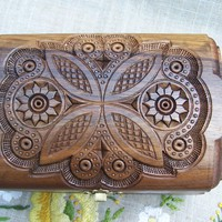 Jewelry box Cigar box Wooden box Ring box Carved by HappyFlying