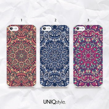 Mandala pattern phone case - Mandala floral case for iPhone 4/4s 5/5s 5c, Samsung s3, s4, s4 active, s5, s5 active, Note2, Note3 - N15