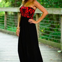 Better To Stay Maxi, Black/Red