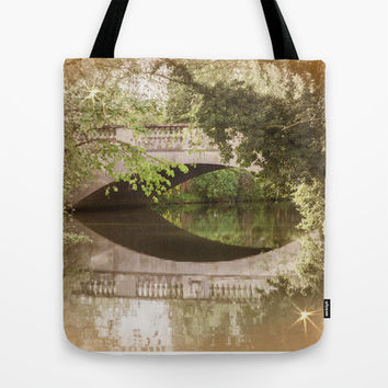 A PEACE OF BRIDGE Tote Bag by Catspaws | Society6