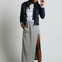 Free People Womens Sweet and Long Maxi Skirt - Black Heather,