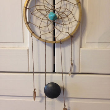 Gold and Turquoise Dream Catcher