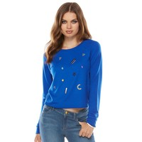 Juicy Couture Embellished Cropped Sweatshirt - Women's