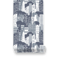 City View Removable Wallpaper - Peel & Stick, Repositionable Fabric