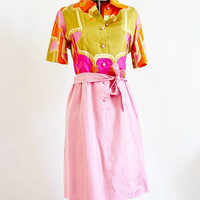 RARE Pink Paganne Silk Dress by SalvatoCollection on Etsy