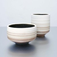 Ready To SHip 1 Striped Stoneware Cup by sarapaloma on Etsy