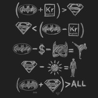 Superhero Math T-Shirt - Black,