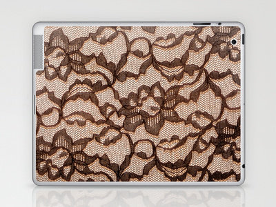 Lace_Peach Laptop & iPad Skin by Garima Dhawan | Society6