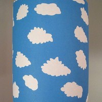 $45.00 White Clouds in Blue Sky Lampshade by Jeannemcgee on Etsy