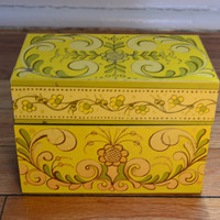 Avon Metal Recipe Box by PickledFurniture on Etsy