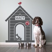 Fancy - Dog House Vinyl Wall Decal Sticker Size Large