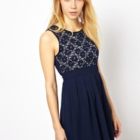 Yumi Skater Dress With Lace Top