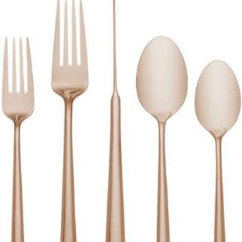 Malmo Rose Gold 5-piece Stainless Place Setting