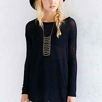 Silence + Noise Raw-Edge Asymmetrical Tunic - Urban Outfitters