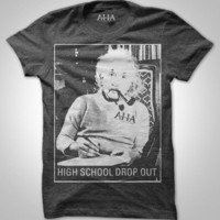 "After Hours Agenda | ""High School Drop Out"" - Men's/Unisex Soft Tee (Dark Grey) 