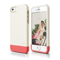elago S5 Glide Case Limited-Edition for iPhone 5/5S - eco friendly Retail Packaging (Coconut / Italian Rose)