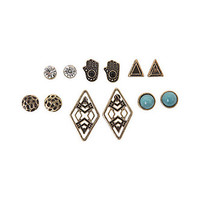 With Love From CA Brass Multi Earring Pack - Womens Jewelry - Gold - NOSZ