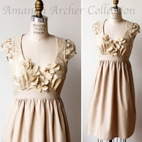 Enchantment Dress beige rose lace by amandaarcher on Etsy