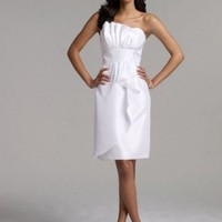 David's Bridal Short Shantung Dress Style INT1058