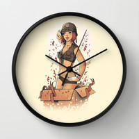 Surprise box Wall Clock by Carbine