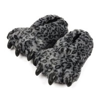 Personalized Fuzzy Bear Paw Fleece Slippers