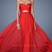 Elegant Strapless Long Prom Dress by La Femme