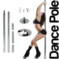 New Pro Portable Stripper Fitness Exercise Spin Spinning Professional Dance Dancing Strip Spinning Pole 45mm
