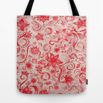 RED  Tote Bag by DuckyB (Brandi)