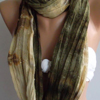 Infinty Necklace scarf Elegance Shawl // Scarf by womann
