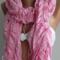 Pink / Elegance Shawl / ScarfSuper soft by womann on Etsy,,,,