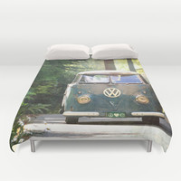 Peace Love Nature Duvet Cover by RDelean
