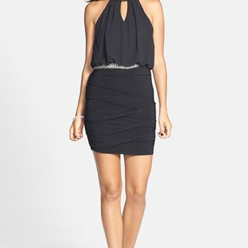 Way-In Halter Body-Con Dress (Juniors)