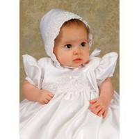 Olivia Satin Girls Christening Gown