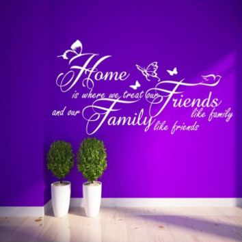 Home friends family butterflies - G Direct Wall Stickers