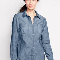 Women's Chambray Shirt from Lands' End
