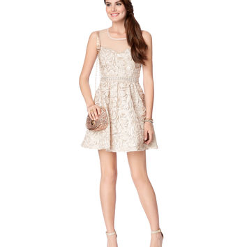 Rosette Embellished Dress