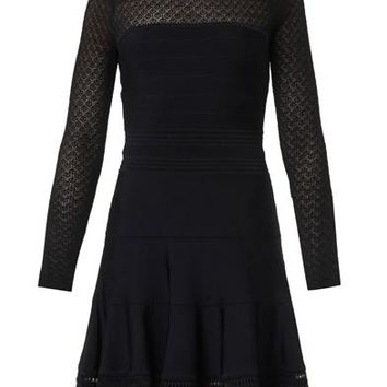 Lace-top bodycon dress