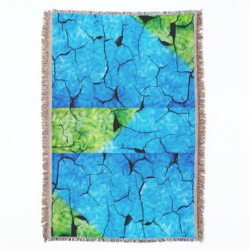 Turquoise & Green faux tortoise shell Throw