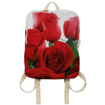 Red Roses Backpack created by ErikaKaisersot | Print All Over Me