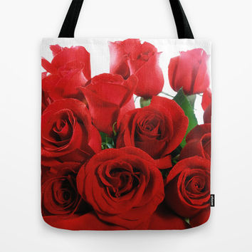 Red Roses Tote Bag by Erika Kaisersot