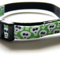Halloween Skulls Dog Collar Adjustable Sizes (XS, S, M)