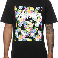 Stussy World Tour Flower Block Tee Shirt