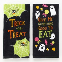 Halloween ''Trick or Treat'' 2-pk. Kitchen Towels