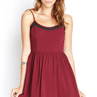 Mesh-Insert Cami Dress