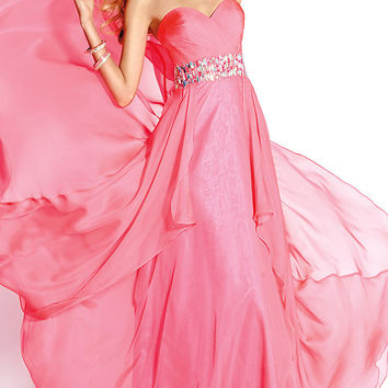 Long Strapless Sweetheart Gown by Alyce